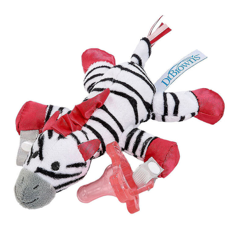 Dr. Brown's Lovey Pacifier and Teether Holder - Zoey the Zebra