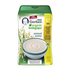 Céréales pour bébés Nestlé Gerber Biologique – Avoine 208g.