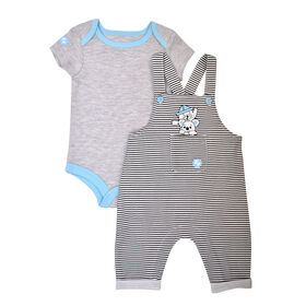 Fisher Price 2 PC overall set - White, 6 months