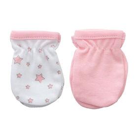 Koala Baby 2-Pack Scratch Mittens - Pink star