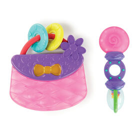 Tote & Teethe 2 Piece Chillable Teether & Rattle Set