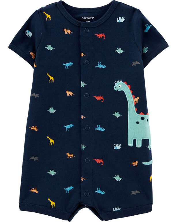 Carter's Dinosaur Snap-Up Romper - Navy, 6 Months