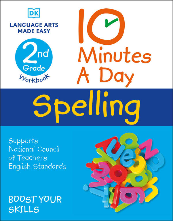 10 Minutes a Day Spelling, 2nd Grade - Édition anglaise