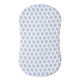 HALO Innovations Bassinest Fitted Sheet - Cotton Muslin - Grey Leaf