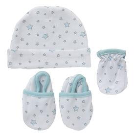 Koala Baby 3-Pack Set - Hat, Mittens, Booties - Blue Stars