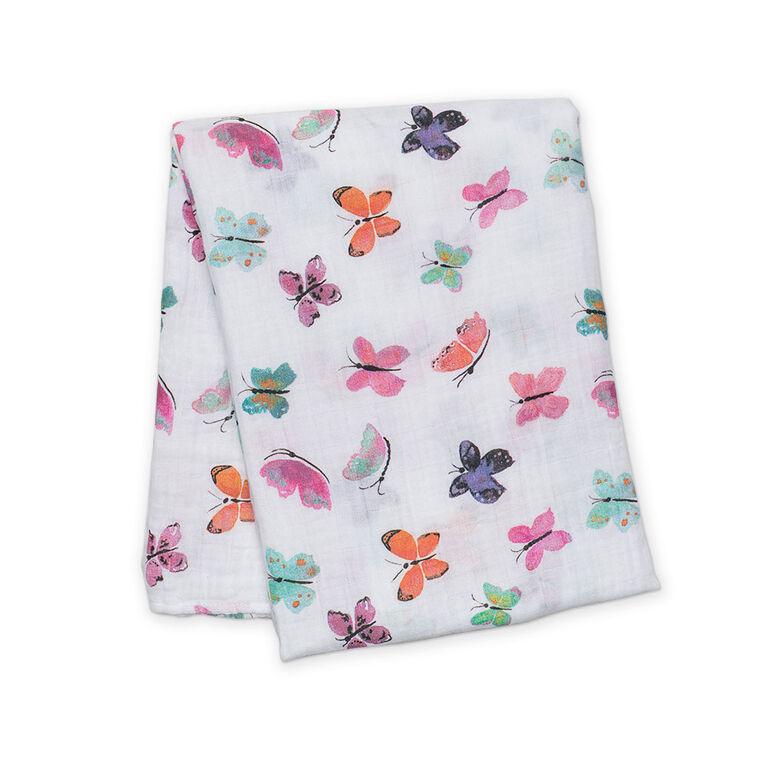 Lulujo - Butterfly Cotton Muslin Swaddling Blanket