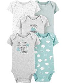 Carter's 5-Pack Clouds Original Bodysuits Multi-Color - Newborn