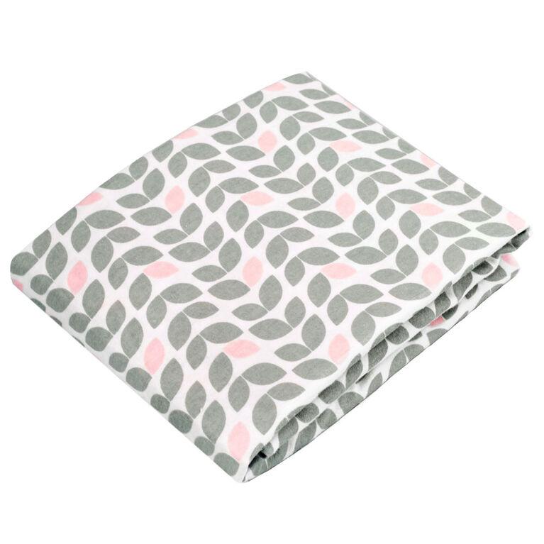 Kushies Crib Sheet Flannel Grey Petal