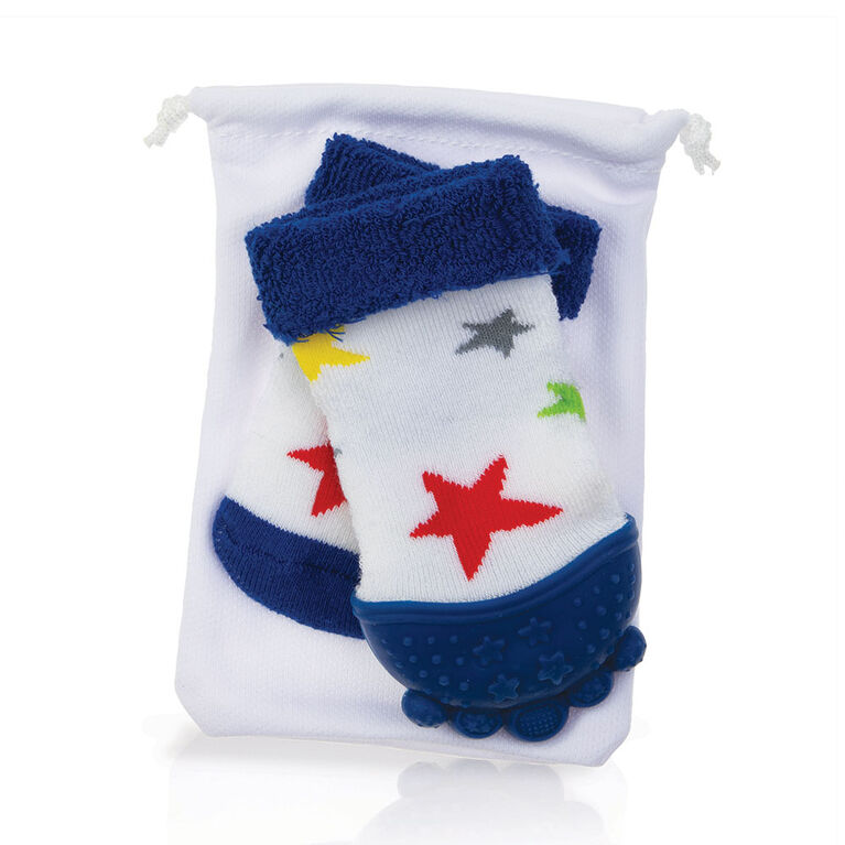Nuby Teether Sock - Stars - English Edition