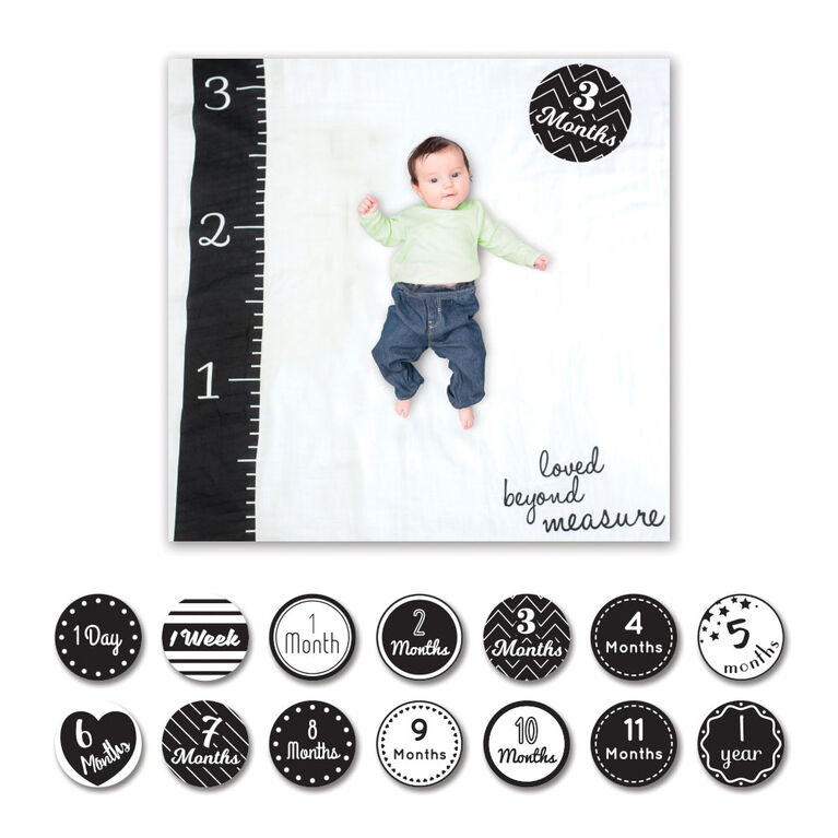 Lulujo - Baby's 1st Year Loved Beyond Measure Blanket & Cards Set