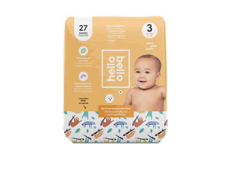 Hello Bello - Jumbo Diaper Sleepy Sloth - Size 3