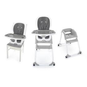 Chaise haute 3-en-1 Trio Elite SmartClean d'Ingenuity - Gris.
