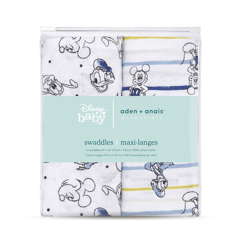 Aden Essentials - Disney 2-Packs Swaddle -Mickey Stargazer