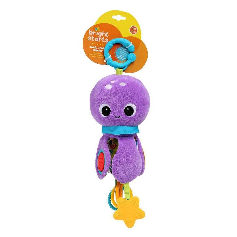 Bright Starts Twirly Whirly Octopus Easy Travel Toy