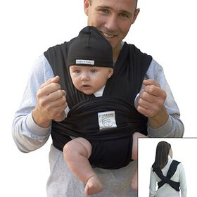 Porte-bébé Baby K'Tan noir - Grand - Édition anglaise.
