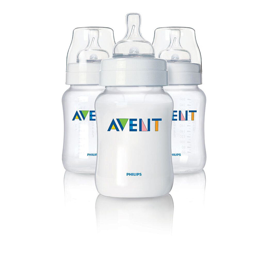 9 Ounce by Philips AVENT Philips Avent Classic Plus Baby Bottles