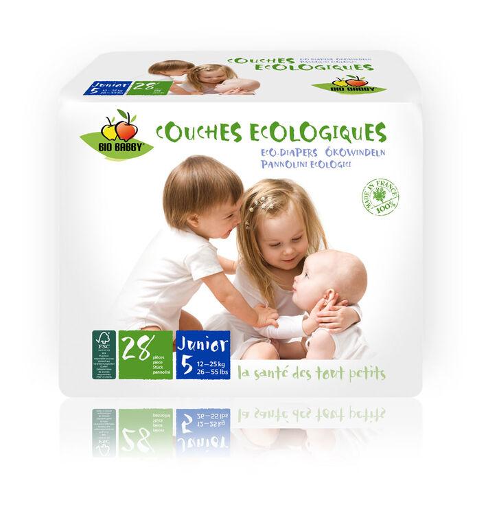 Bio Babby – Couches écologiques - JUNIOR (6 sacs de 28 couches).