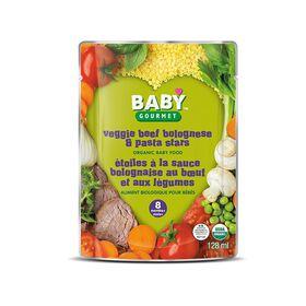 Baby Gourmet Étoiles à la sauce bolognaise au b?uf et aux légumes.