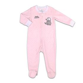 Koala Baby Microfleece Sleeper Light Pink w/ Dots - Little Peanut, 3-6 Months