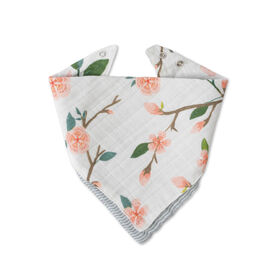 Red Rover - Cotton Muslin Bandana Bib - Peach Blossom - R Exclusive