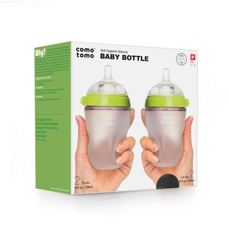 Comotomo - Natural Flow Bottle (Double Pack) - 250ML - Green.