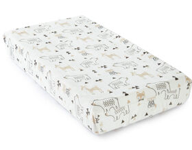 Levtex Baby Bailey Woodland Themed Plush Changing Pad Cover - Taupe and Grey
