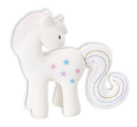 Tikiri Rubber Unicorn Rattle With Crinkle.