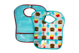 Koala Baby 2 Pack EZ Wipe Toddler Bibs