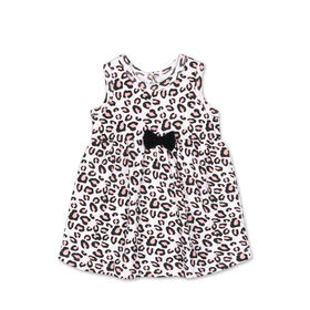 Koala Baby Short Sleeve Cheetah Print Dress - 6 to 12 months