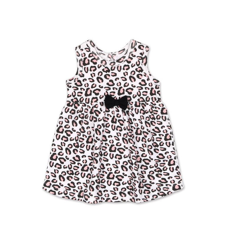 Koala Baby Short Sleeve Cheetah Print Dress - 12 Month