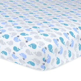 Gerber Whales Fitted Crib Sheet