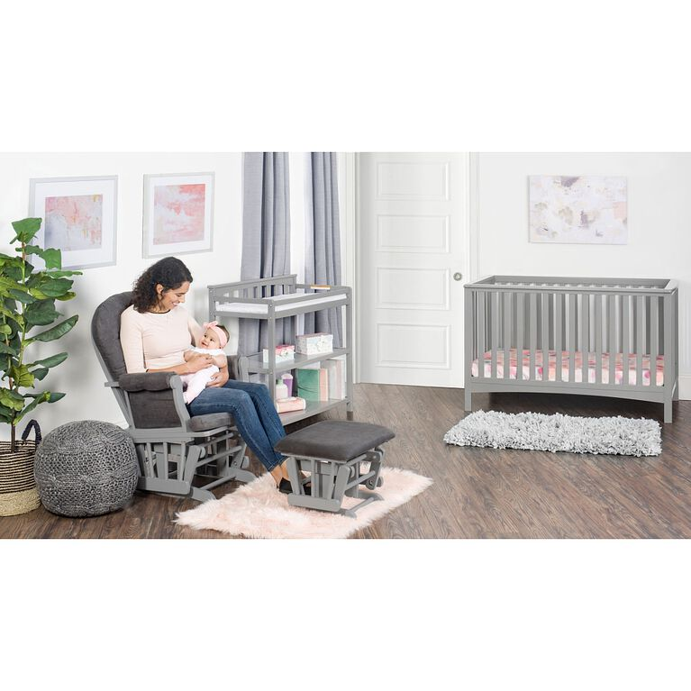 Forever Eclectic by Child Craft London 4-in-1 Convertible Crib, Cool Gray
