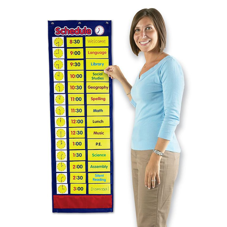 Learning Resources Daily Schedule Pocket Chart