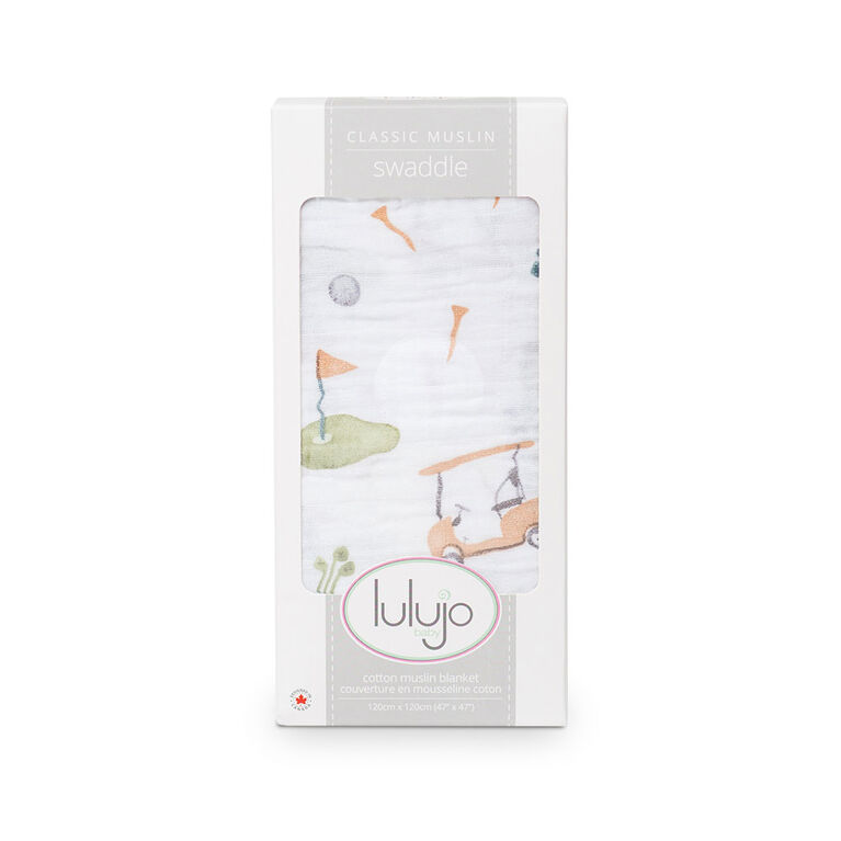 Lulujo - Golf Swaddle Blanket
