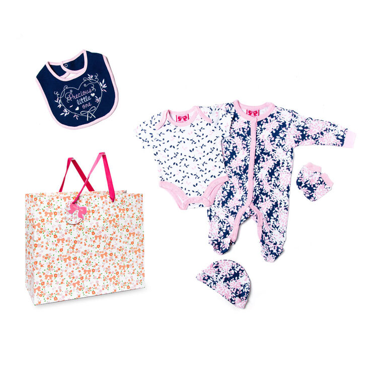 Mini Moi - Precious Little One Footie 5 Pc Set - 3-6 Months