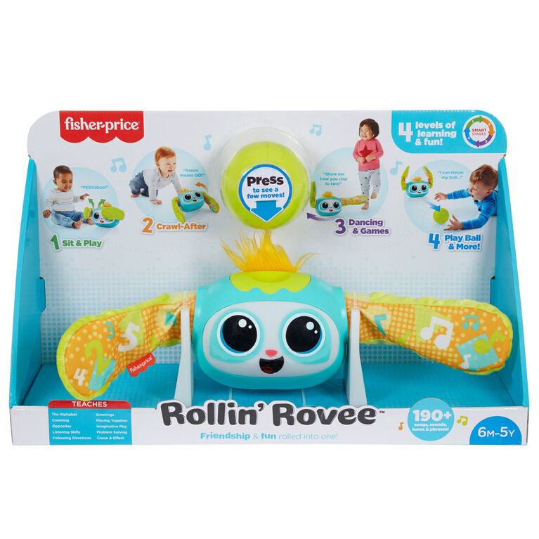 Fisher-Price Rollin' Rovee Interactive Musical Activity Toy - English Edition