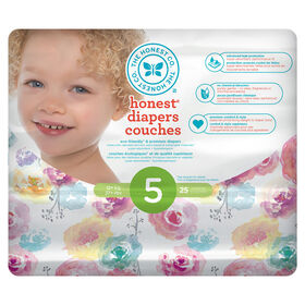 Honest Diapers Size 5 Rose Blossom