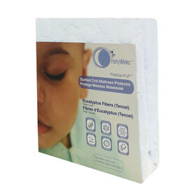 Forty Winks - Natural Tencel (Eucalyptus) Waterproof, breathable crib mattress cover - White