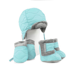 JJ Cole Baby Bomber Hat Set - 0 to 6 Months - Aqua