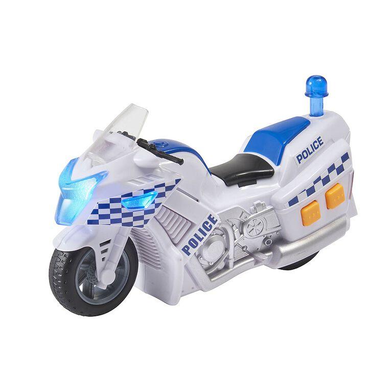 Teamsterz Small Lights & Sounds Police Motorbike