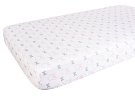 Minnie Mouse Cotton Fitted Crib Sheet||Minnie Mouse Cotton Fitted Crib Sheet