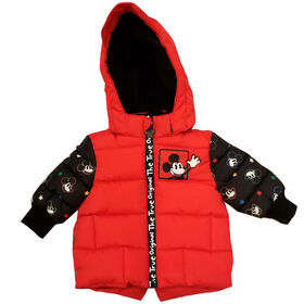 Baby Boy Mickey Mouse Puffer Jacket with contrast sleeve 24 Months