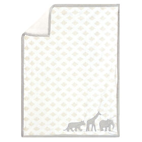 Just Born Dream Animal Print Blanket - Grey