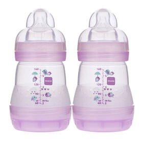 Mam Anti Colic Bottle 2 Pack 5oz - Pink