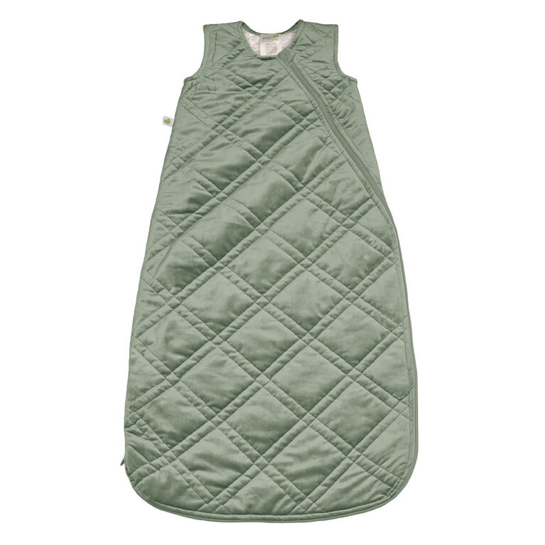 Perlimpinpin - Velour sleep bag - Kaki 6-18
