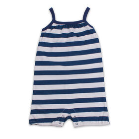 Snugabye Sleeveless Romper - Stripe - Navy/White, 12-18 Months