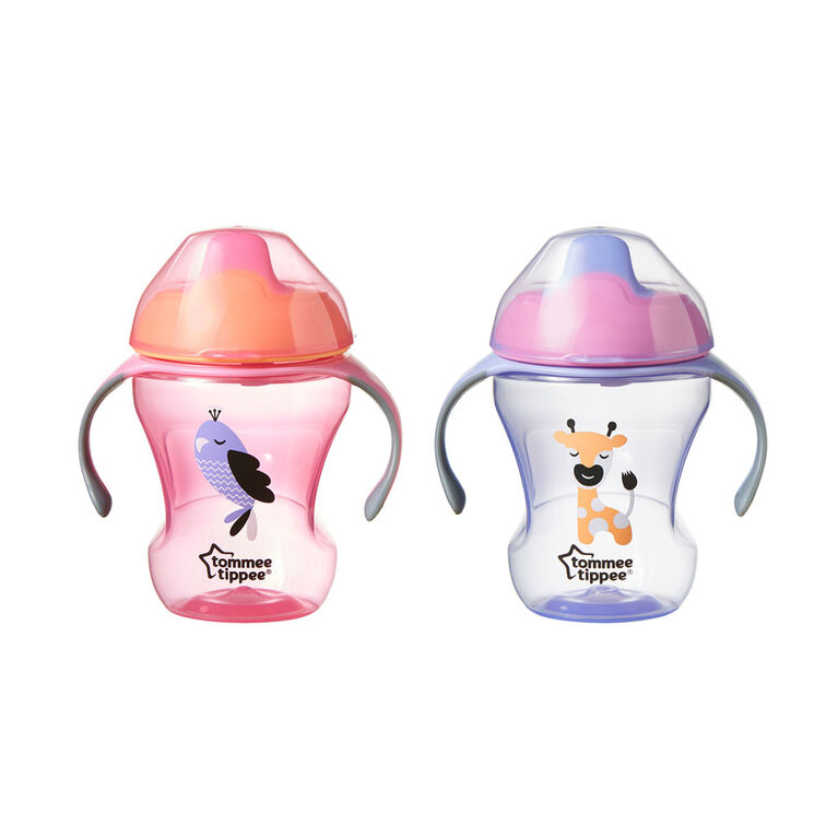 Tommee Tippee Sippee Trainer Cup 8 oz, 2-Pack - Pink/Purple
