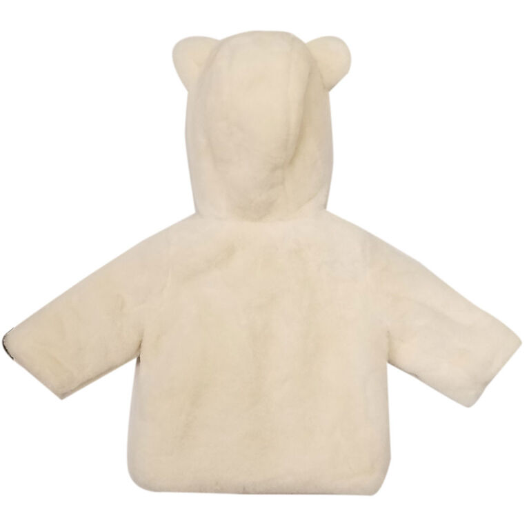 Baby Girl Marie Faux Fur Jacket with Hood 3 Months