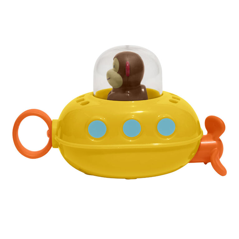 Skip Hop Zoo Bath Pull & Go Submarine, Monkey