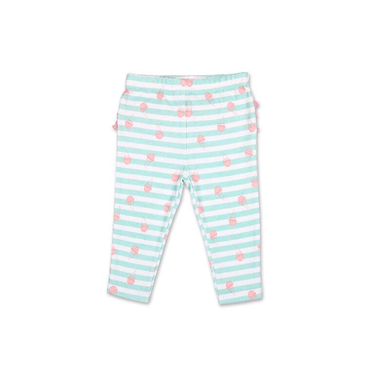 Koala Baby Pastel Rainbow Ice Cream Long Sleeve Tee/Legging 2 Piece Set, 3-6 Months